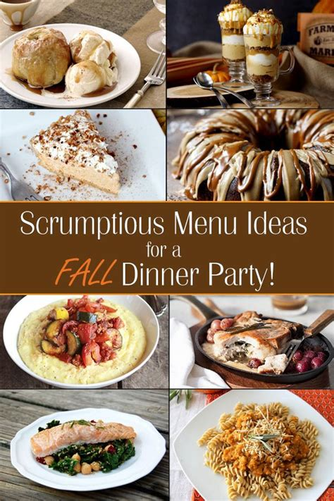 fall themed dinner fall dinner menu ideas ideas for throwing a fall