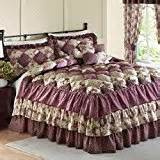 country pink puff quilt set home kitchen