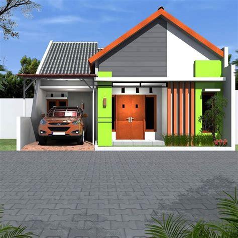 model rumah minimalis sederhana  warna cat hijau
