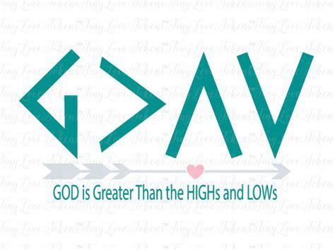 god is greater design svg dxf eps png pdf