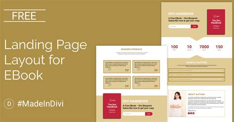 Free Landing Page Divi Layout For Ebook Cakewp Divi Landing Page Template