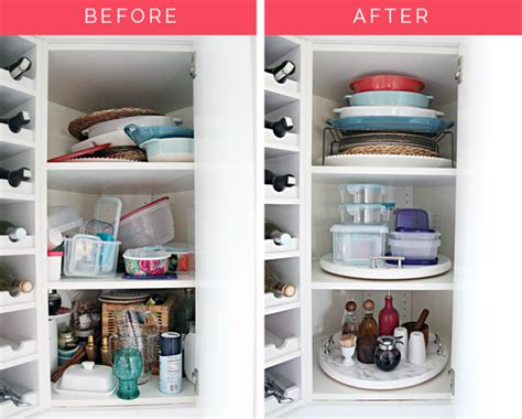 lazy susan cupboard comocriarfacebook com organized kitchen corner cabinet with a diy lazy susan