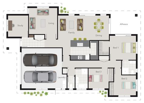 house plans with room g j gardner wright plan 3 bedroom floor plan with study
