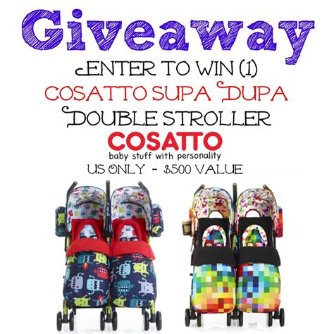 Double Stroller Giveaway - cosatto supa dupa double stroller giveaway mom junky