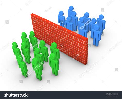If Two Equal Right Of Privacy In A Location Consent To Search Is Valid Two Groups Separated By The Wall Stock Photo 88352368