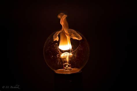 Burning Light Burning Light Bulb Filaments Beautiful Photography