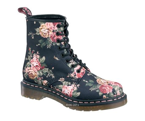 Kickers Cw Bots 36 40 dr martens 8 loch stiefel flowers stoff textil