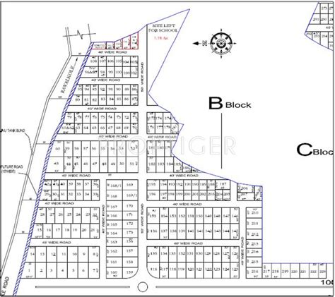 layout plan of township 4500 sq ft plot for sale in jayadarsini housing