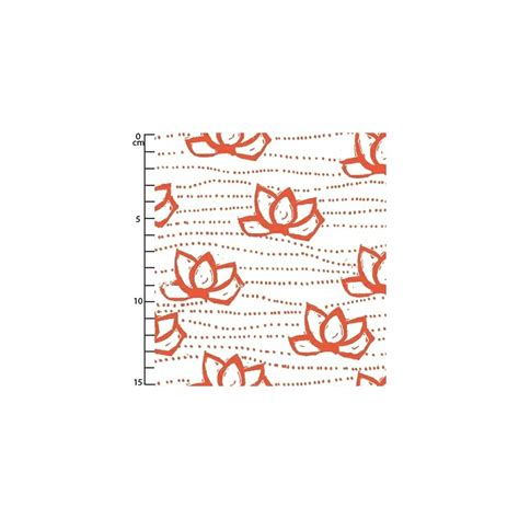 Kamala Coral tissu lucky kamala coral pink x10cm windham fabrics