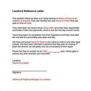 Authorization Letter Landlord landlord reference letter template 8 download free documents in pdf