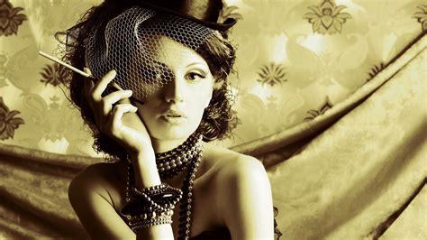 girl wallpaper qhd girl hat cigarette retro wallpaper 2560x1440 qhd