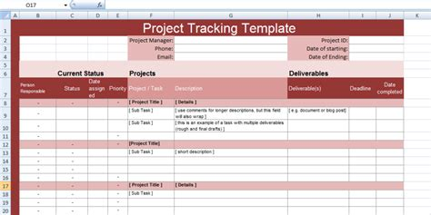 Multiple Project Tracking Templates For Excel Projectmanagersinn Project Management Task Tracking Template