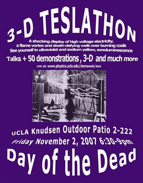 nikola tesla contributions to physics day of the dead ucla physics astronomy