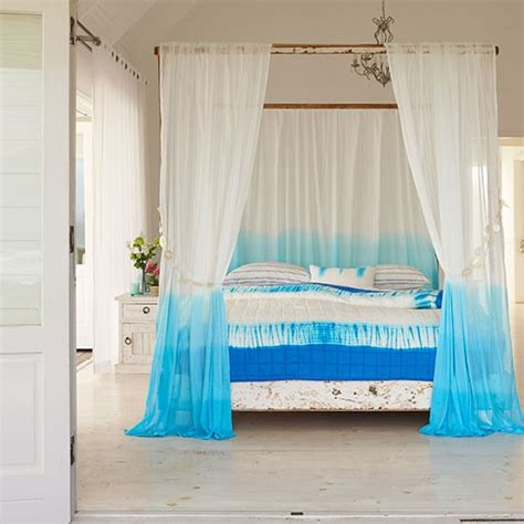 white and blue curtains for bedroom white bedroom with four poster bed and blue tie dye