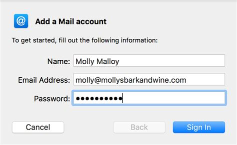 Godaddy Email Search Apple Mail Mac Set Up Email Workspace Email Godaddy Help Us