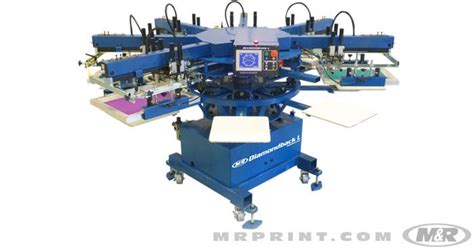 6 color screen printing press diamondback l automatic screen printing press textile