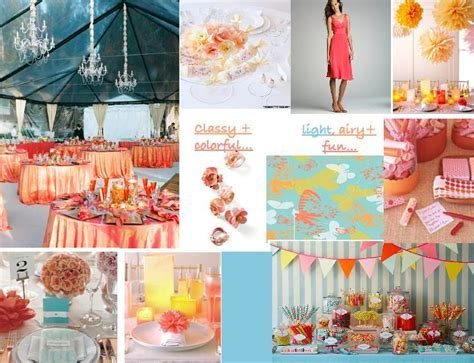 30 best Coral, Tiffany Blue, and Yellow images on