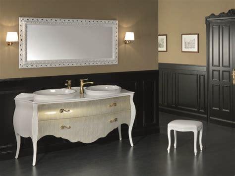 consolle bagno classico consolle lavabo doppio freestanding in legno in stile