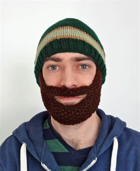 knitted hat with beard knit hat with beard pattern newhairstylesformen2014