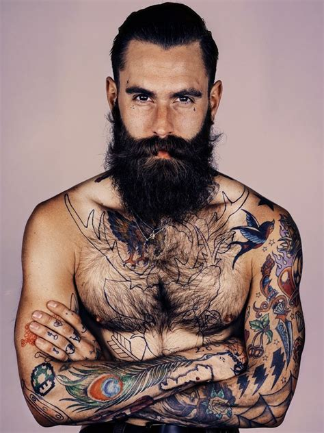 hot tattoo artist male ricki hall cool tatts i especially like the peacock