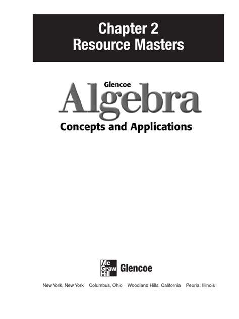Download Glencoe Algebra Chapter 2 Docshare Tips