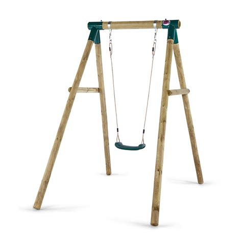 swing swang swung wooden single swing set