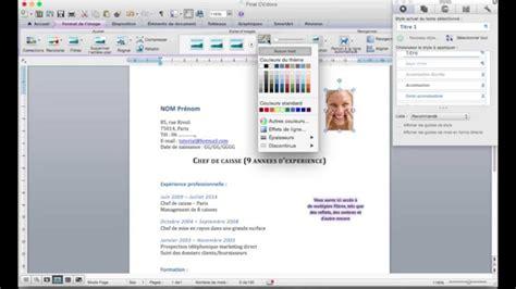 Mise En Page Cv by Mise En Page D Un Cv