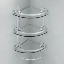best aluminum 3 tier glass shelf shower holder bathroom