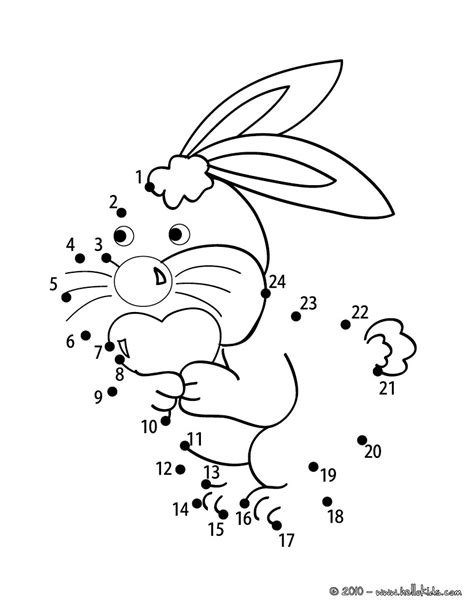 printable rabbit dot to dot lovely bunny coloring pages hellokids com