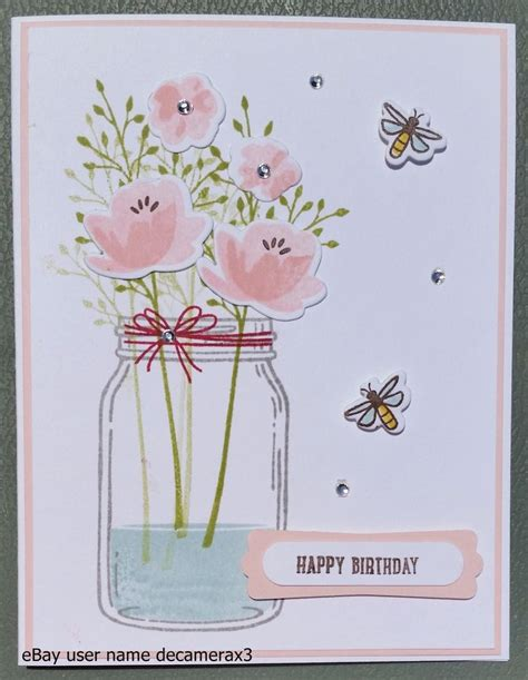 Handmade Stin Up Cards - happy birthday get well thank you handmade card kit