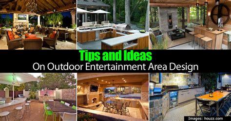 backyard entertainment designs tips and ideas on outdoor entertainment area design