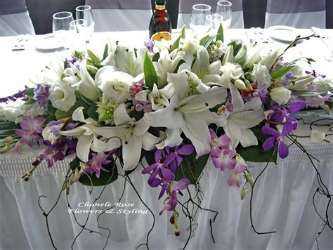 table flower arrangements head table flower arrangement hydrageas instead of lillies