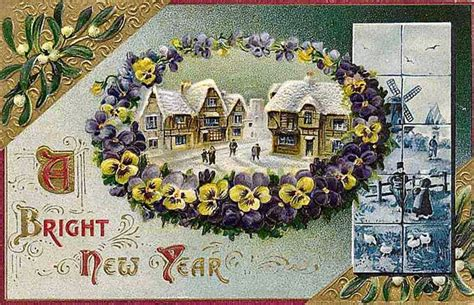 free vintage happy new year greeting cards elves with free clip from vintage crafts 187 archive
