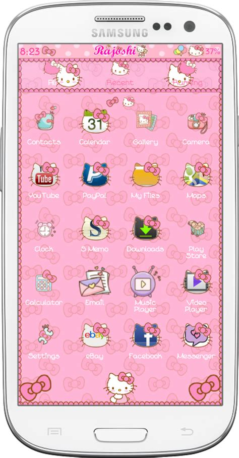 go launcher themes hello kitty apk download hello kitty loves bow go launcher theme for