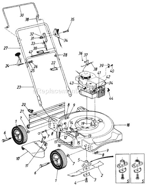 mtd lawn mower parts diagram mtd 118 050c206 parts list and diagram 1988
