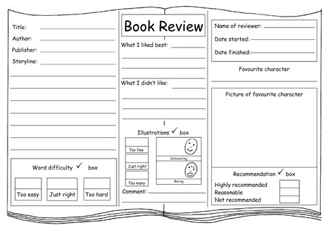 my english class writing a book review plan