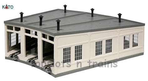 N Engine Shed by N Roundhouse Pre Built Engine Shed Kato 23 240