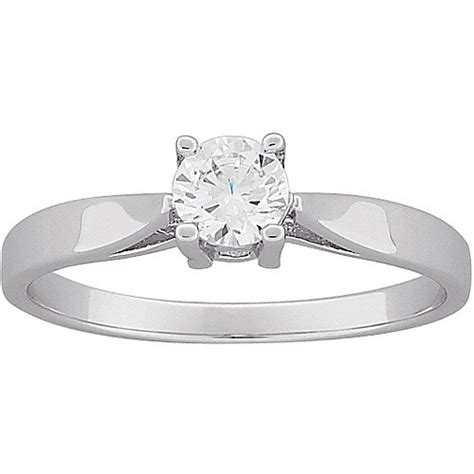 79 carat t g w cz engagement ring in sterling