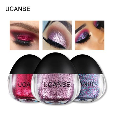 Pac Color Festival Eye Shadow ucanbe new glitter eyeshadow 5 colors single eye shadow metallic powder gel