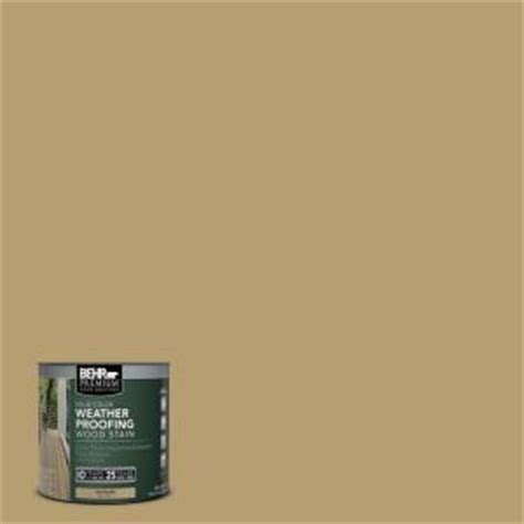 behr premium 8 oz sc145 desert sand solid color weatherproofing all in one wood stain and