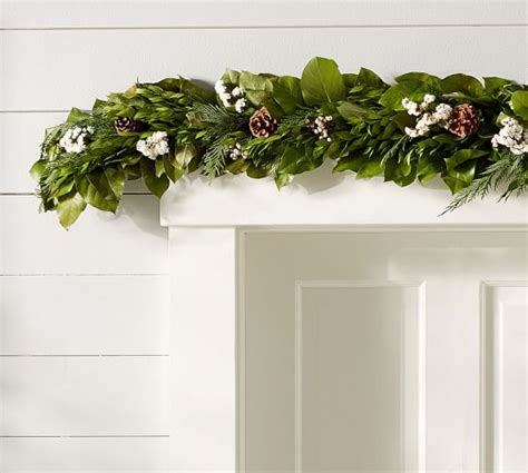 live garland decor live fresh winter collection garland pottery barn