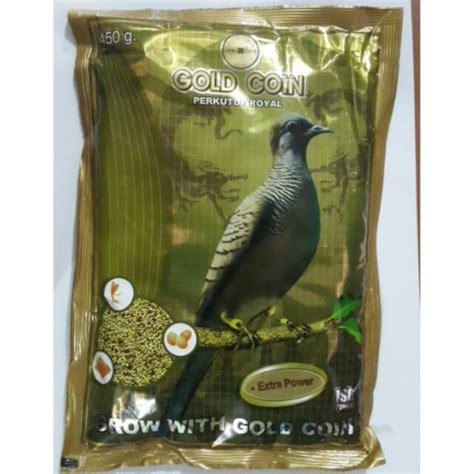 Pakan Burung Perkutut Gold Coin goldcoin perkutut royal power 450gram untuk lovebird