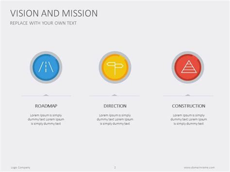 powerpoint templates free vision tell us your vision and mission presentation minimalist