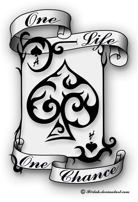 tribal spade tattoos ace of spades design by b0dah deviantart on