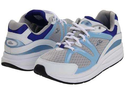 easy spirit graham3 white blue sneaker w anti