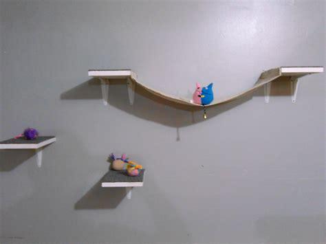 cat wall shelves cat wall climbing shelves with hammock