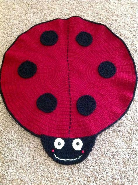 Ladybug Rug by Ladybug Rug Knotty Crochet