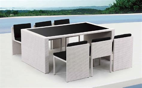 taurus table and 6 chair patio dining set