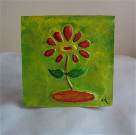Handmade Artwork - by injete handmade metal cards miniature paintings