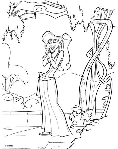 coloring page hercules megara